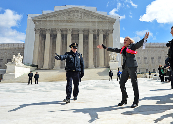 Edith Windsor in front of the Supreme Court. JEWEL SAMAD/AFP/Getty Images